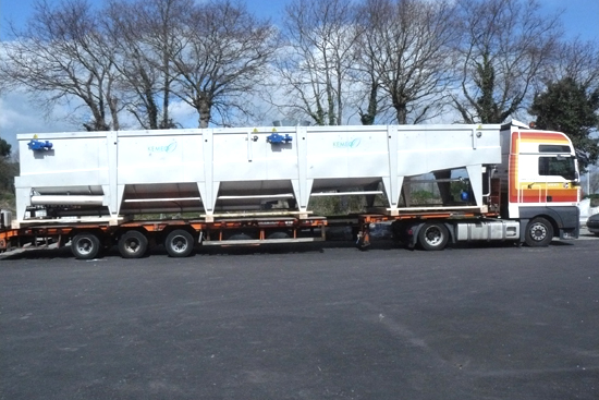 DAF water treatment installation